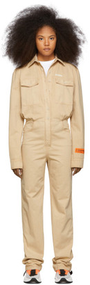 Heron Preston Tan Prohibited Worker Jumpsuit