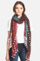 La Fiorentina Women's Mixed Print Cotton & Silk Scarf