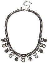 INC International Concepts Hematite-Tone Geometric Stone Collar Necklace, Only at Macy's
