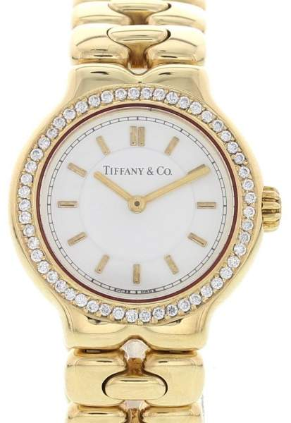 Tiffany & Co. Tesoro L0133 18K Yellow Gold 25mm Womens Watch