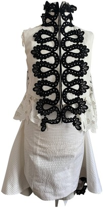 Sacai White Lace Dress for Women