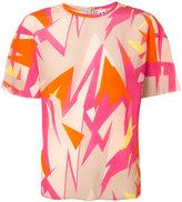 M Missoni abstract print T-shirt - women - Silk - 42