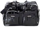 OiOi Patent Carry-All Diaper Bag in Black