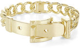 BCBGMAXAZRIA Pyramid-Buckle Chain Bracelet
