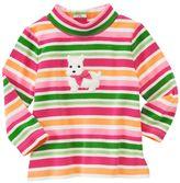 Westie Puppy Stripe Turtleneck Top