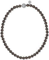 Majorica Sterling Silver Dark Imitation Pearl Collar Necklace