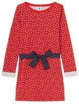 Petit Bateau Girls print tube knit dress