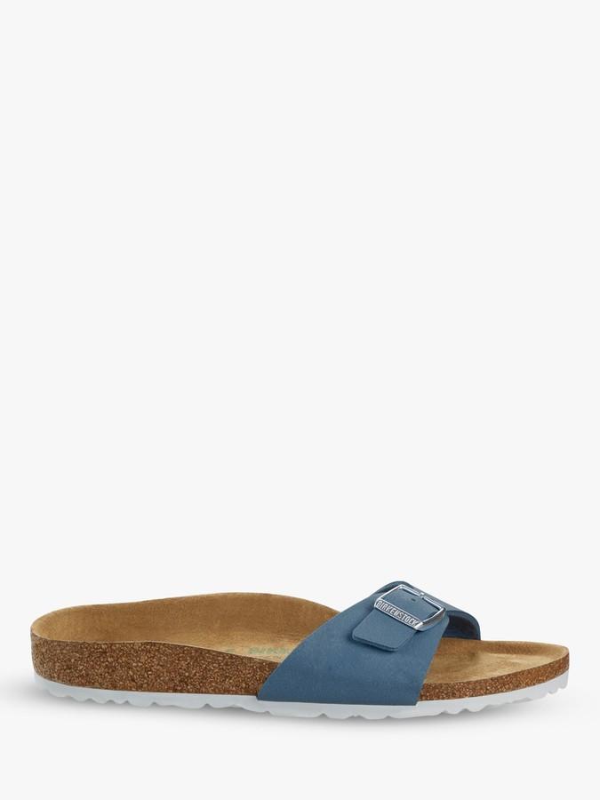 Birkenstock Madrid Narrow Fit Open Toe Vegan Buckle Sandals, Blue