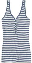 Women's Striped Henley Tanks
