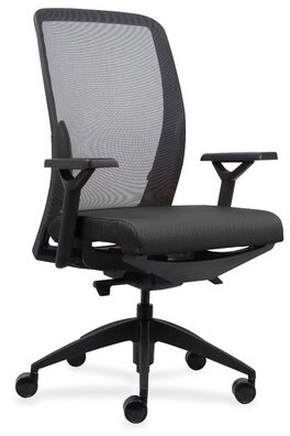 Lorell Executive Mesh Back/Fabric Seat Task Chair Upholstery Color: Black