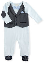 Miniclasix Cotton Jersey Footed Coverall, Blue, Size 3-9 Months