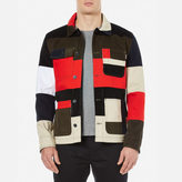 Maison Kitsune Patched Worker Jacket Multi