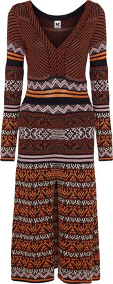 M Missoni Metallic Jacquard-knit Midi Dress