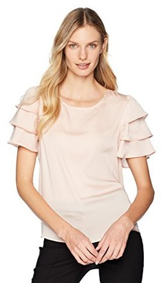 Nanette Lepore Women's Short Tiered Sleeve Top