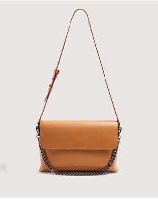 7 For All Mankind Leather Shoulder Bag In Cognac