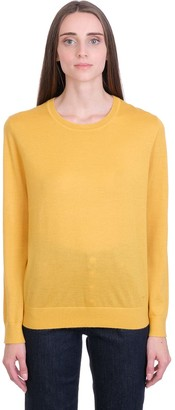 Tory Burch Updated Iberia Knitwear In Yellow Cashmere