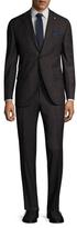 Lubiam Matteo Wool Checkered Notch Lapel Suit