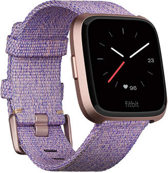 Fitbit Versa Special Edition Lavender Woven Band Smart Watch 39mm