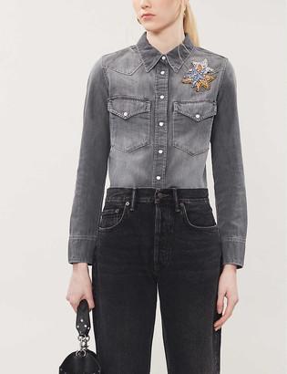 Zadig & Voltaire Thelma embellished denim shirt