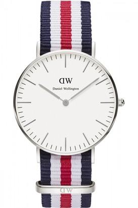 Daniel Wellington Ladies Canterbury Silver 36mm Watch DW00100051