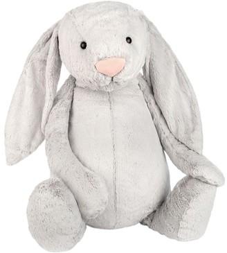 Jellycat Bashful Bunny Soft Toy, Very Big, Silver