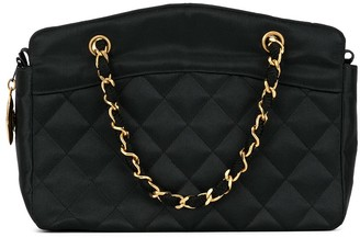 Chanel Pre Owned 1990s diamond quilted chain tote