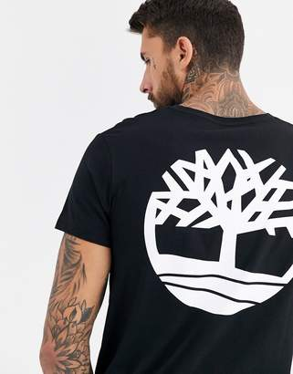 Timberland core back logo t-shirt in black