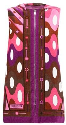 Emilio Pucci Vivara-print Cotton-terry Cover Up - Womens - Dark Pink