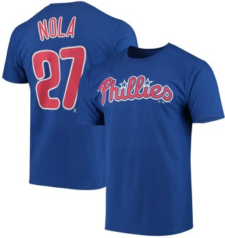Majestic Men's Aaron Nola Royal Philadelphia Phillies Official Player Name & Number T-Shirt