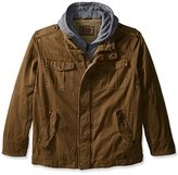 Levi's Men's Big & Tall Washed Cotton Four-Pocket Hooded Trucker Jacket