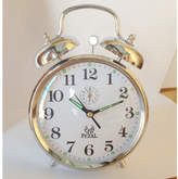 Mechanical Bell Clock Colour: Silver