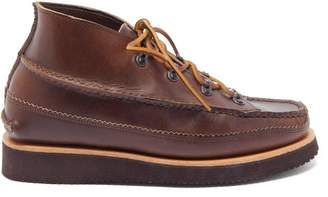 Yuketen All Handsewn Tokyo Chukka Leather Desert Boots - Mens - Brown