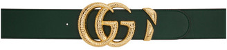 Gucci Green GG Buckle Belt