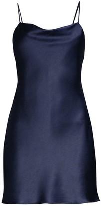 Alice + Olivia Harmony Satin Mini Slip Dress