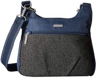 Baggallini Anti Theft Cross Over Crossbody (Black Antitheft) Handbags