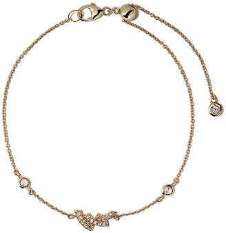 Astley Clarke 14kt yellow gold mini Icon Scala diamond bracelet
