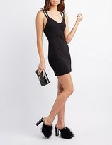 Charlotte Russe Strappy-Back Bodycon Dress