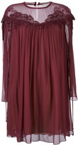 Chloé cherry guipure dress