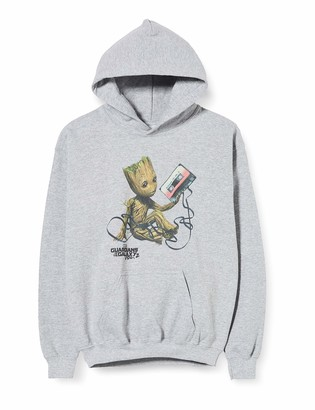 Marvel Girl's Guardians of The Galaxy Vol2 Groot Tape Hoodie