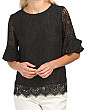 Lace Flutter Sleeve Top