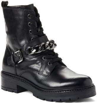 Aldo Women's Casual boots BLACK - Black Adelie Leather Combat Boot - Women