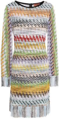 Missoni Fringed Boucle-knit Dress