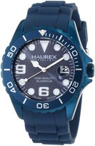Haurex Italy Men's Ink Rubber Band Aluminum Dial Watch 1K374UB2