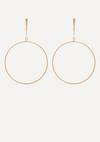 Bebe Drop Hoop Earrings
