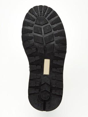 Very Boys Elastic Lace Zip Boots - Navy
