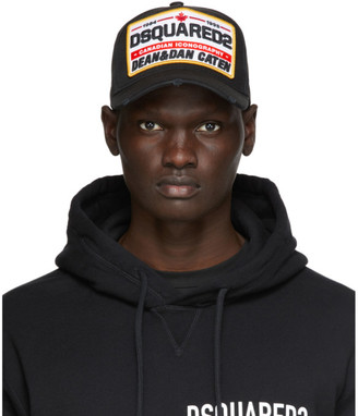 DSQUARED2 Black Canadian Iconography Baseball Cap