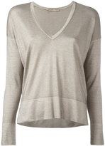 Cruciani V-neck jumper - women - Silk/Cashmere - 38