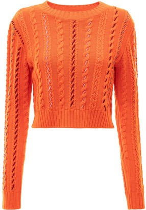 J.W.Anderson Cropped Darning Knitted Jumper