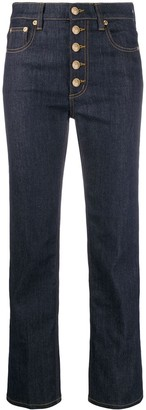 Tory Burch high-waisted cropped jeans