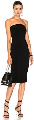 Norma Kamali Strapless Dress in Black | FWRD